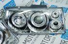 Передние фары для ВАЗ 2108-099 хром, с линзой и ангельскими глазками_6