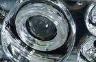 Передние фары для ВАЗ 2108-099 хром, с линзой и ангельскими глазками_2