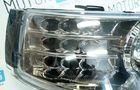 Фары PROSPORT RS-02175 «Agressor» для ВАЗ 2110-12 с «ангельскими глазками», диодный поворот, тонированный хром.