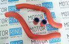 Патрубки радиатора для ВАЗ 2110-12, армированный каучук, красные_3