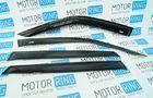 Комплект дефлекторов боковых окон под зеркала с большим уголком для Лада Приора седан и хэтчбек, ВАЗ 2110-12