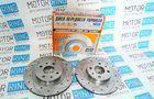 Передние тормозные диски Alnas Sport Euro 2112 (R14, насечки, перфорация, вентилируемые)_3