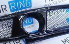Нижняя решетка переднего бампера с сеткой, под 1 комплект ПТФ для Лада Приора_4