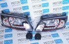 ХалявING! Тюнинг фары с ДХО, черный корпус для Лада Гранта (товар с производственным дефектом - не горит один или несколько светодиодов ДХО)_1