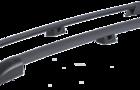 Рейлинги черные 0239-02 на крышу Лада Ларгус_1