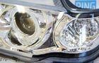 ХалявING! Передние фары для ВАЗ 2113-15 хром, с ангельскими глазками и диодным поворотником TF1404В (товар с производственным дефектом - сломано крепление линзы, можно восстановить)_4