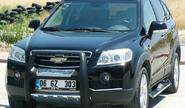 Пороги chevrolet captiva, anatolia diamond (черного цвета)