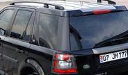 Полированные рейлинги для land rover freelander 2 (чёрные)