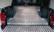 Алюминиевый пол в кузов, 3 части