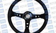 Спортивный руль R1 черный на автомобили ВАЗ