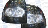 Штатные тюнингованные фонари чёрные с белой серединой для Лада Приора