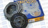 Cцепление Krafttech в сборе на Chevrolet Lacetti с двигателем 1.4/1.6 л
