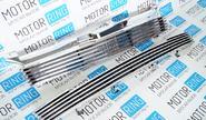 Комплект решеток радиатора и бампера Maretti linee хром для Лада Калина