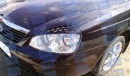 Реснички на фары «Соты» в цвет автомобиля для Лада Приора