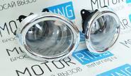 Противотуманные фары «Тюн-Авто» с хром окантовкой для Лада Гранта до 2015г