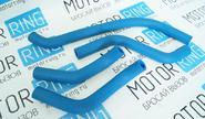 Патрубки печки для ВАЗ 2108 (Карбюратор) армированный каучук, синие 2108
