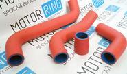 Патрубки радиатора для ВАЗ 2105-07, армированный каучук, красные