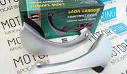 Внутренние ручки задних дверей «Тюн-Авто» серебристые для Лада Ларгус