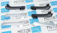 Ручки-подлокотники двери «ЛЮКС» серебристые для Лада Гранта, Калина 2, Datsun