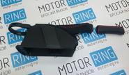 Ручка ручника с кожухом и подстаканником красная строчка для Гранта, Калина 2, Datsun