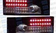 Задние диодные фонари черные с белой полосой для ВАЗ 2108-14
