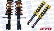 Комплект передней и задней масляной подвески в сборе «KYB Premium» (Каяба) для Лада Приора, занижение -25 мм. до -50мм.