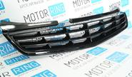 Декоративная решетка радиатора 4 лопасти без значка в цвет кузова для Лада Приора 2