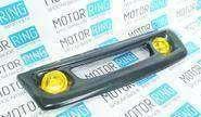 Декоративная решётка радиатора в цвет кузова с желтыми ПТФ для ВАЗ 2110-12