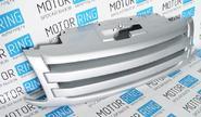Декоративная решетка радиатора 2 лопасти в цвет кузова для Лада Гранта