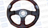 Спортивный руль Rtech для автомобилей ВАЗ с красной строчкой (007)