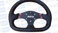 Спортивный руль под SPARCO, (не оригинал) с кнопками (040)