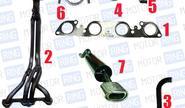 Выпускной комплект с глушителем для ВАЗ 2108-099 16v 1.5, Стингер