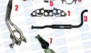 Выпускной комплект с глушителем для ВАЗ 2110-12 8V, Subaru Sound Стингер