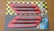 Декоративные накладки «Жабры» 0395 на кузов автомобиля, красные