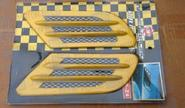 Декоративные накладки «Жабры» 0395 на кузов автомобиля, желтые