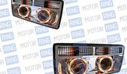 Фары PROSPORT RS-03822 с «ангельскими глазками» хром для ВАЗ 2104-07