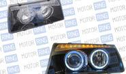 Фары PROSPORT RS-01300 для ВАЗ 2108-099 «BMW 5» с «ангельскими глазками» тонированные, хром.