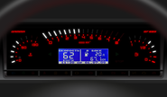 Электронная комбинация приборов gamma gf 683 на ВАЗ 2108, 2109, 21099