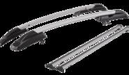 Рейлинги для Datsun On-Do с креплением «КАЛИНА 3» с поперечинами, серые