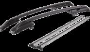Рейлинги для Datsun On-Do с креплением «КАЛИНА 3» с поперечинами, черные