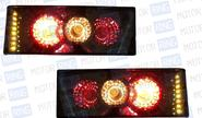 Задние фонари SkyLine тонированные с диодным поворотником на ВАЗ 2108-21099, 2113, 2114