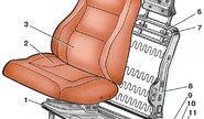 Комплект каркасов сидений без салазок для ВАЗ 2108-099