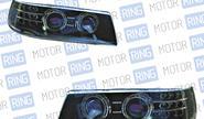 Фары PROSPORT RS-02174 «Agressor» для ВАЗ 2110-12 с «ангельскими глазками», диодный поворот, черный корпус.