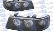 Фары PROSPORT RS-01063 для ВАЗ 2110-12 с «ангельскими глазками», черный корпус.