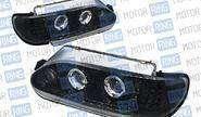 Фары PROSPORT RS-06726 для ВАЗ 2113-15 «А5» с ДХО, диодный поворот, тонированный хром.
