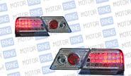 Светодиодные задние фонари ProSport RS-02307 для ВАЗ 2115 красные, хром корпус