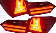 Задние фонари «red smoke» для toyota corolla 2014