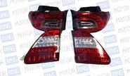 Диодные задние фонари для Toyota Corolla 2011г, красно-коричневый корпус
