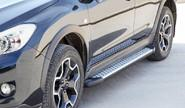 Защита порогов 1787 «Бумер» алюминиевая с резинкой для Subaru XV