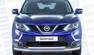 Защита переднего бампера двойная «ПТ» Ø63/51мм (НПС) 08070102 для NISSAN QASHQAI 2014